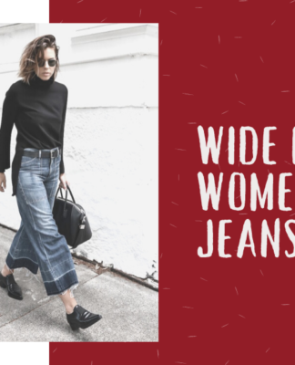 Style the wide leg womens jeans right