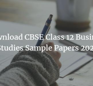 CBSE Class 12 Business Studies Sample