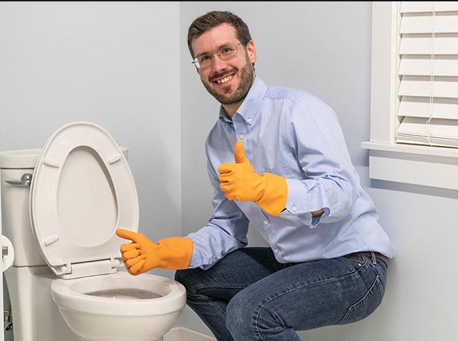 draining toilet