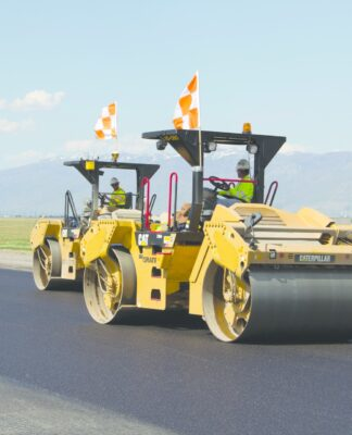 What type of roller do we use for asphalt driveway?